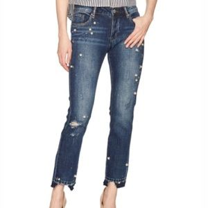 HPWilliam Rast pearl bead distressed jeans 24